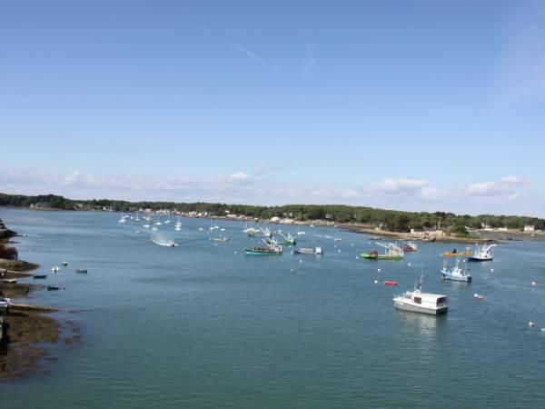 Paysage maritime bateaux Rivière de Crac'h golfe du Morbihan
